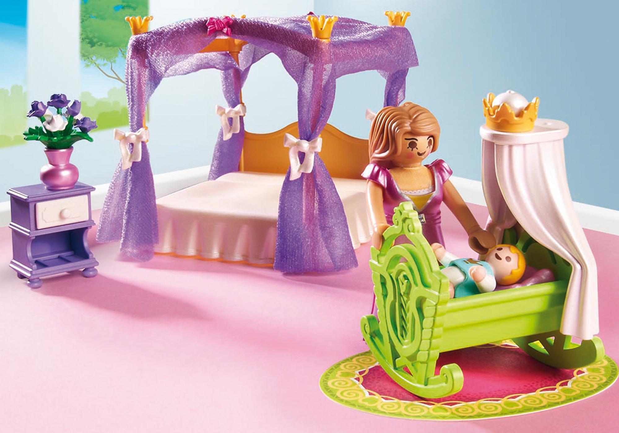http://media.playmobil.com/i/playmobil/6851_product_extra1/Замок Принцессы: Покои Принцессы с колыбелью
