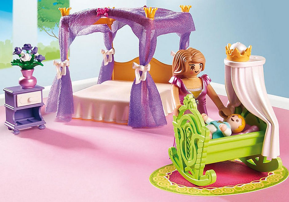 6851 Chambre de la reine avec lit à baldaquin detail image 5