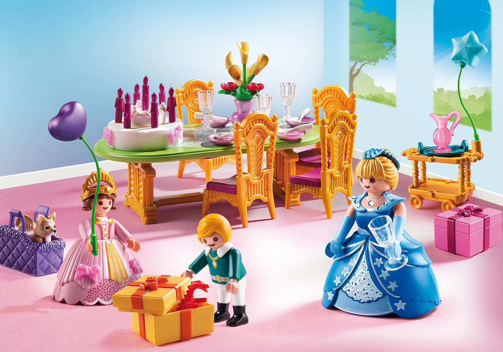 Salle manger pour anniversaire princier 6854 for Salle a manger playmobil