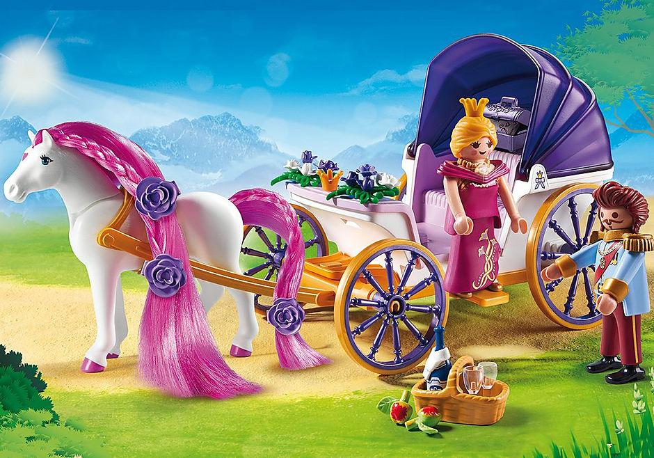 6856 Calèche royale avec cheval à coiffer detail image 1