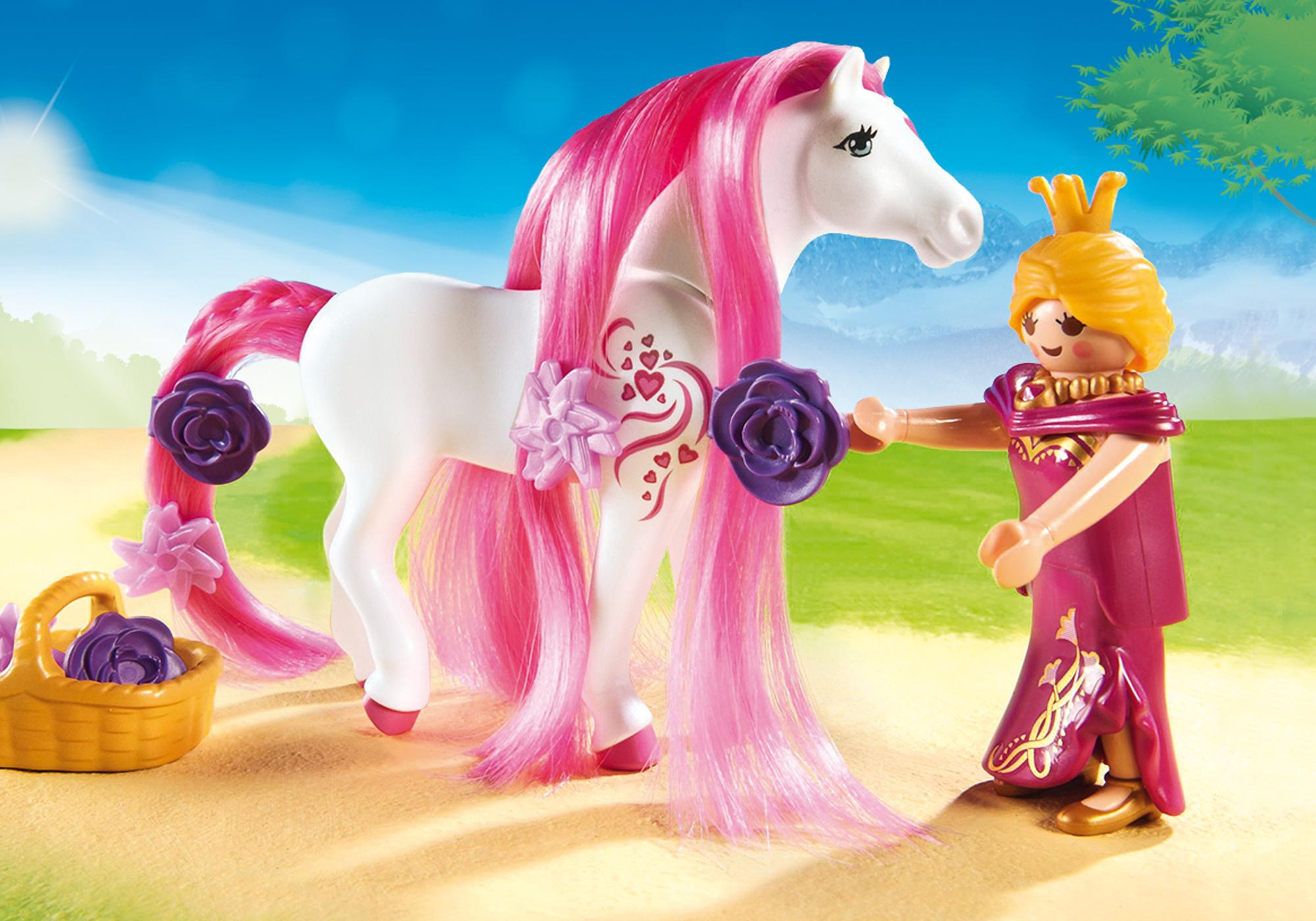 http://media.playmobil.com/i/playmobil/6856_product_extra1/Calèche royale avec cheval à coiffer