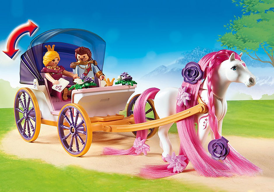 http://media.playmobil.com/i/playmobil/6856_product_extra2/Замок Принцессы: Королевская чета с каретой