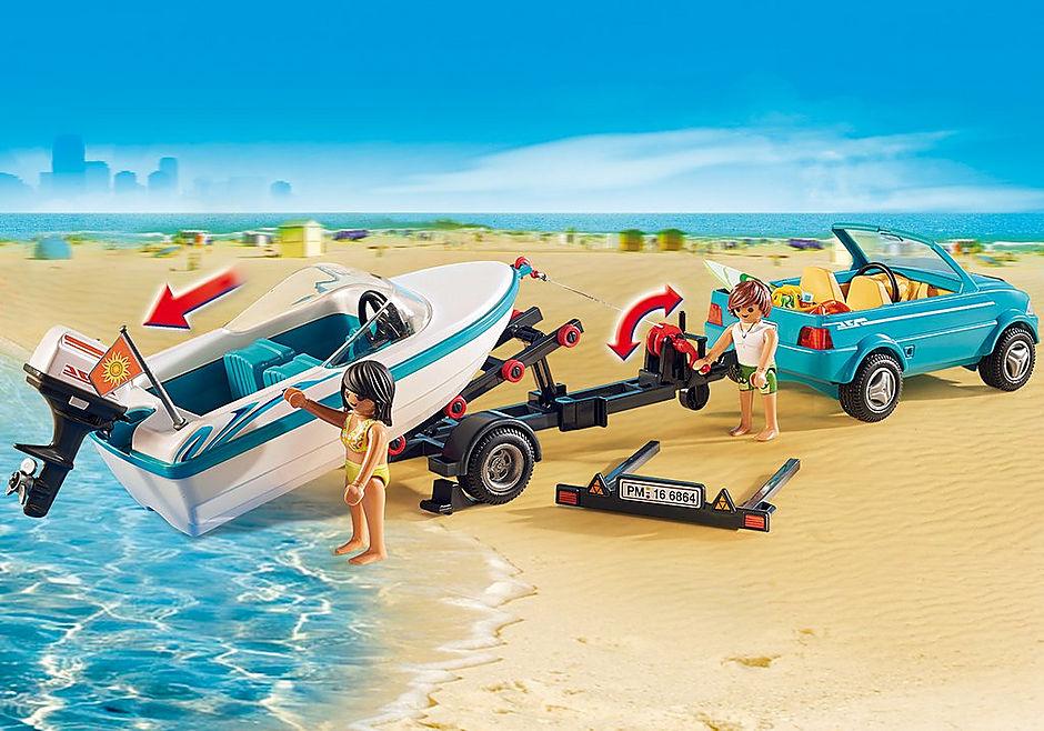 http://media.playmobil.com/i/playmobil/6864_product_extra2/Pickup med motorbåt med undervattenmotor