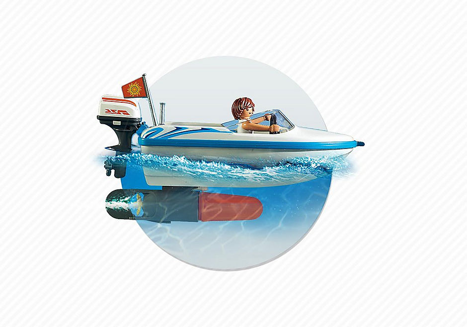 6864 Pick-up met speedboot met onderwatermotor detail image 8