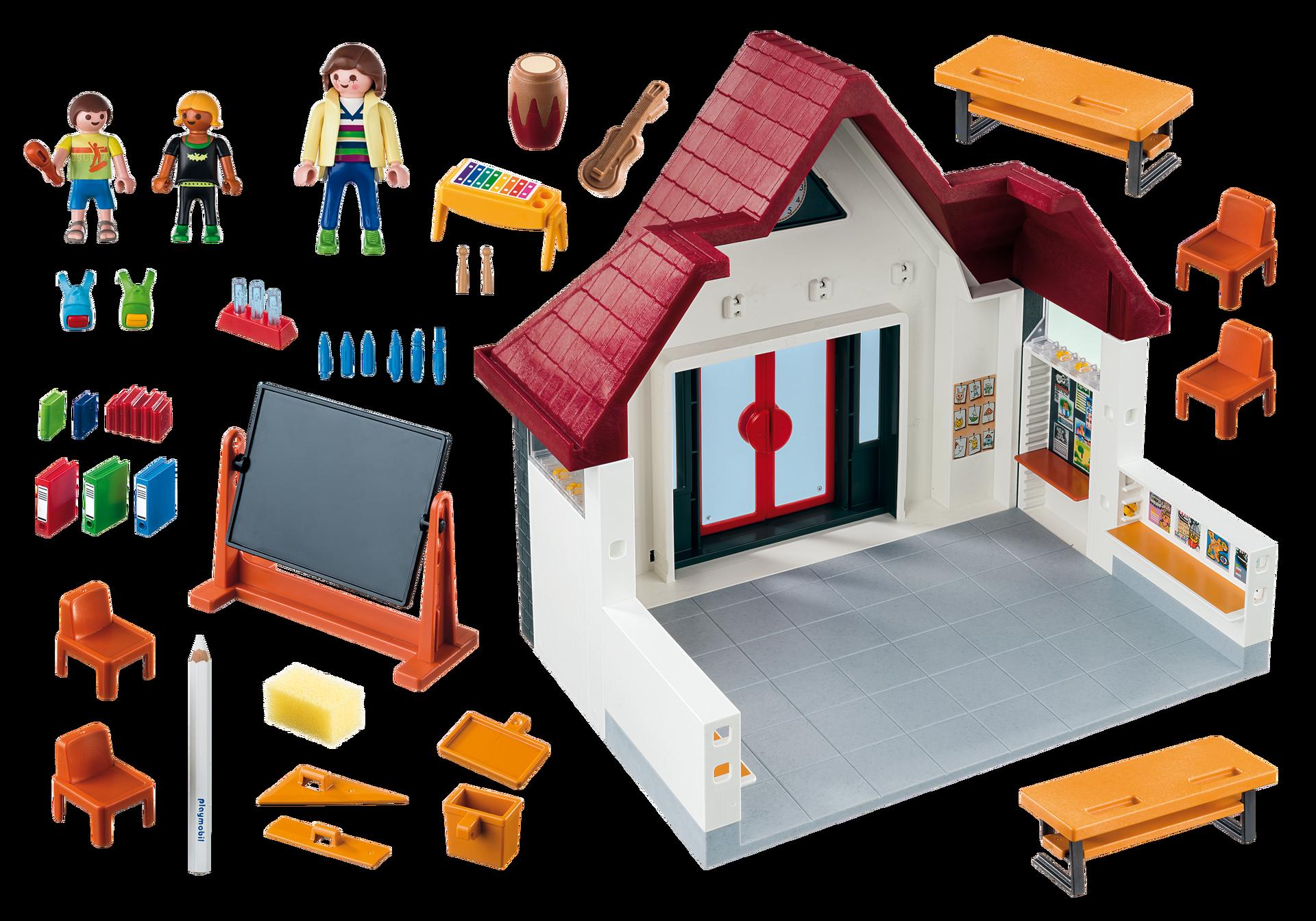 Ecole avec salle de classe 6865 playmobil france for Salle de sejour playmobil