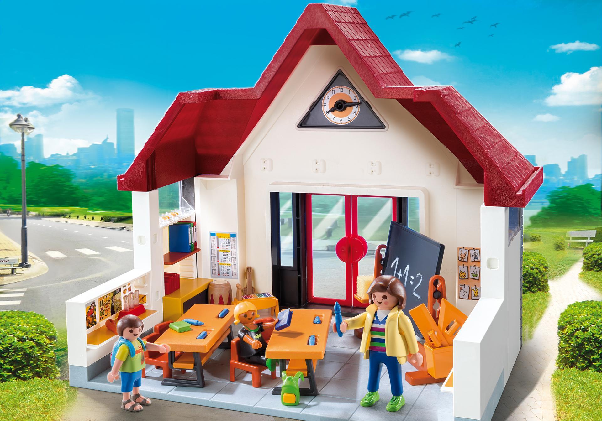 ecole avec salle de classe 6865 playmobil france. Black Bedroom Furniture Sets. Home Design Ideas