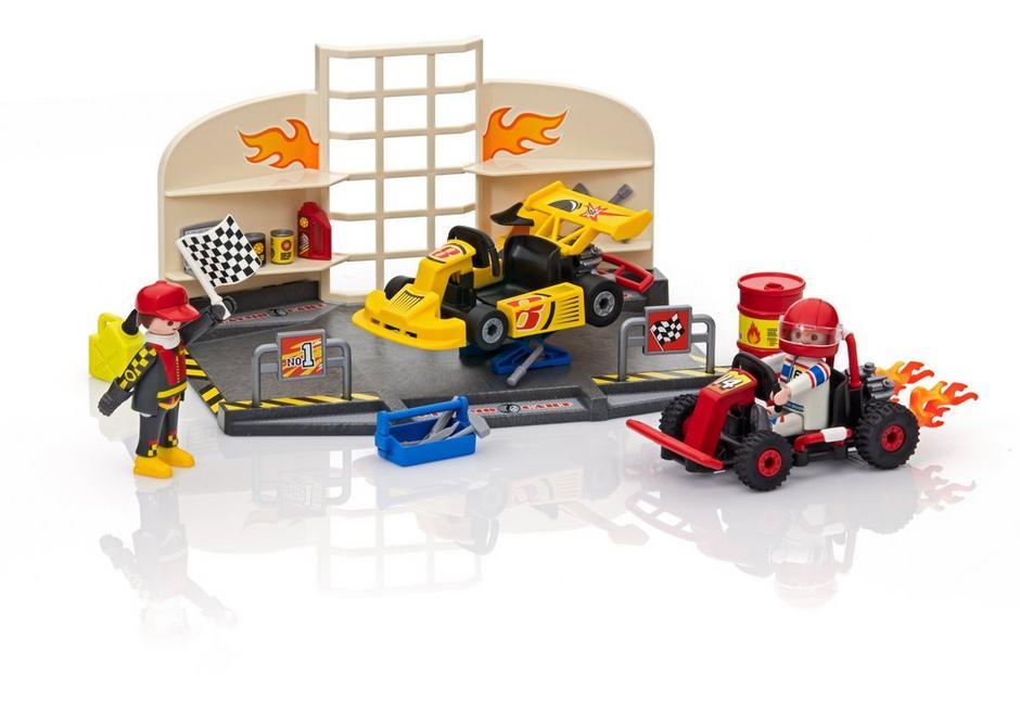 Go Kart Garage 6869 Playmobil Usa