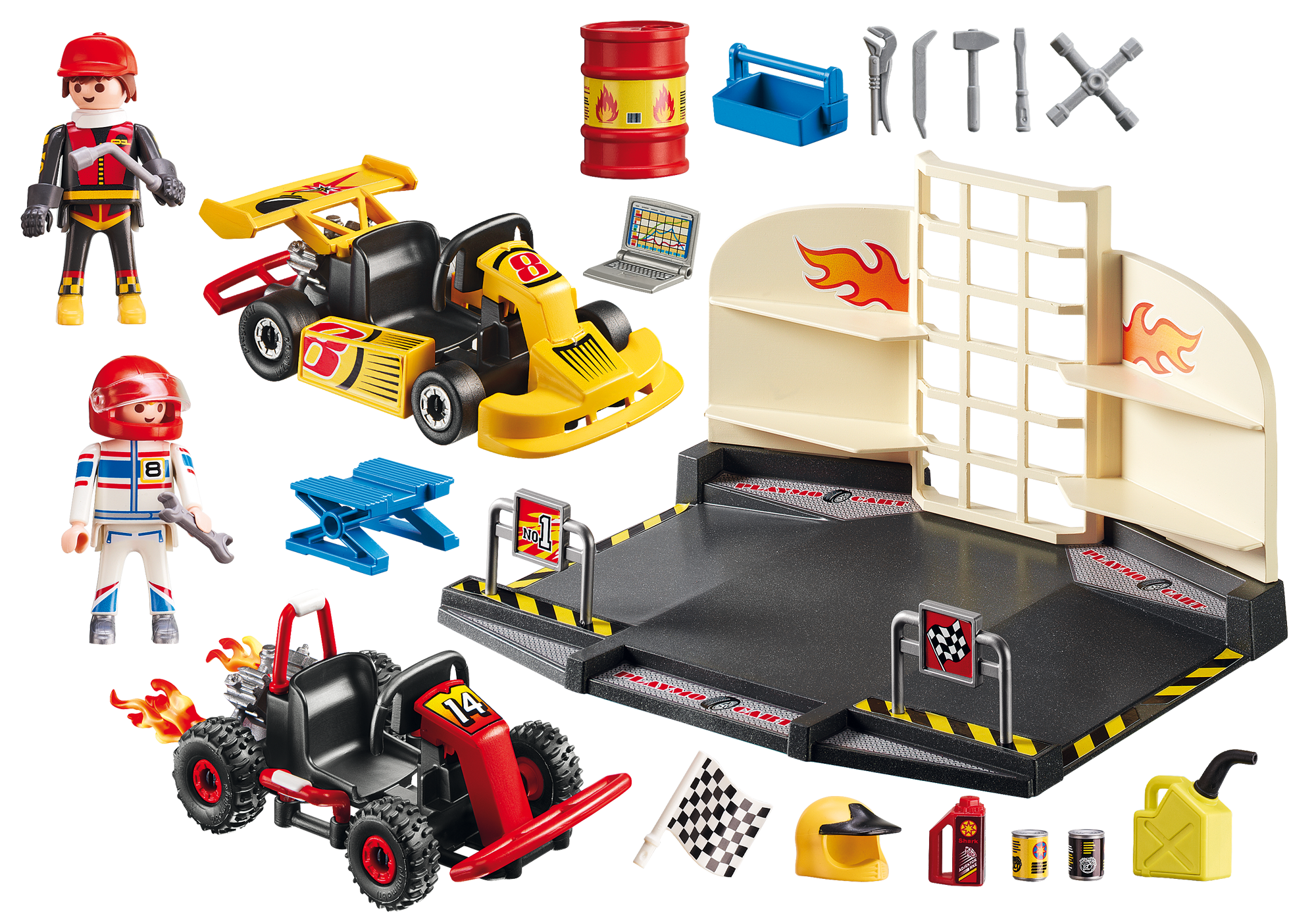 http://media.playmobil.com/i/playmobil/6869_product_box_back/StarterSet Taller de Karts