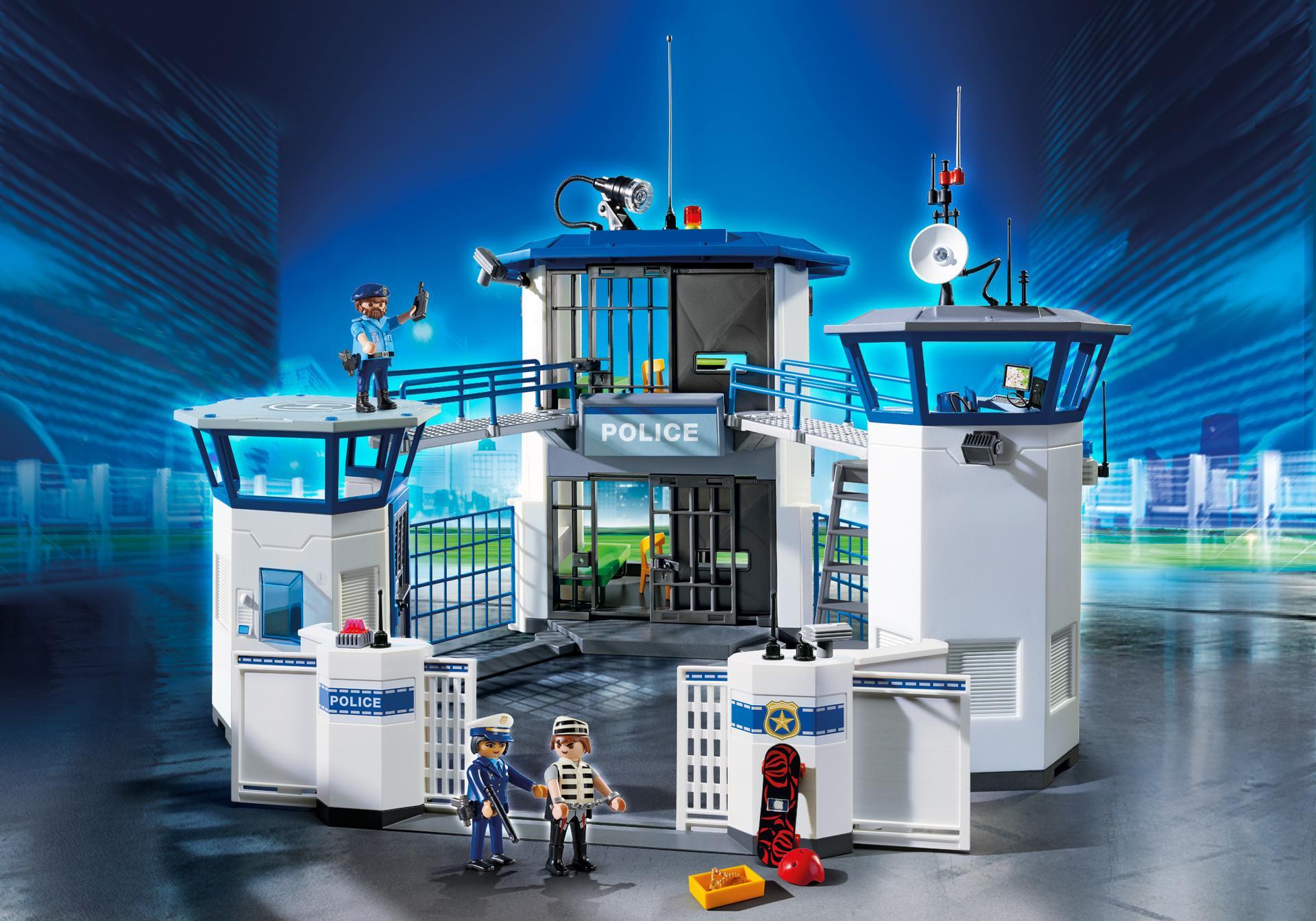Polizei kommandozentrale mit gef ngnis 6872 playmobil deutschland - Caserne de police playmobil ...
