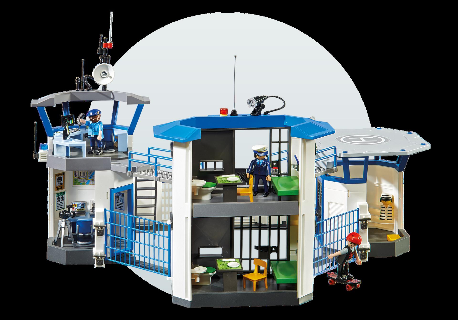 polizeikommandozentrale mit gefängnis  6872  playmobil