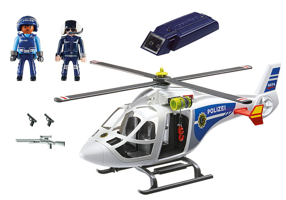 6874 Polizei-Helikopter mit LED-Suchscheinwerfer detail image 4