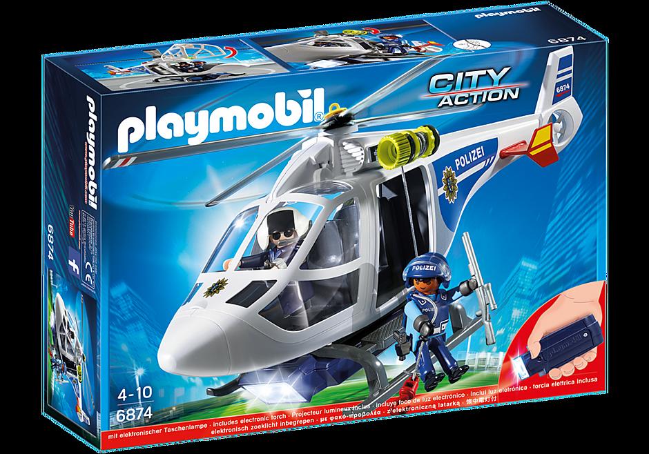 6874 Polizei-Helikopter mit LED-Suchscheinwerfer detail image 3