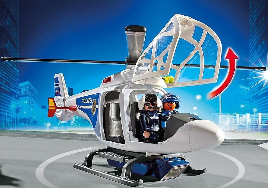 6874 Polizei-Helikopter mit LED-Suchscheinwerfer detail image 5