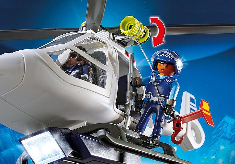 6874 Polizei-Helikopter mit LED-Suchscheinwerfer detail image 6