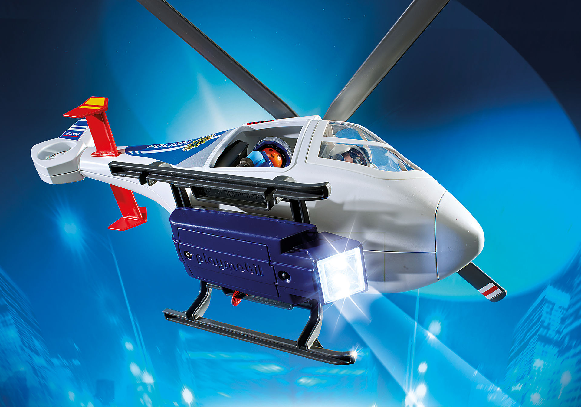 6874 Polizei-Helikopter mit LED-Suchscheinwerfer zoom image7