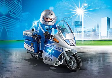 6876 Motorradstreife mit LED-Blinklicht