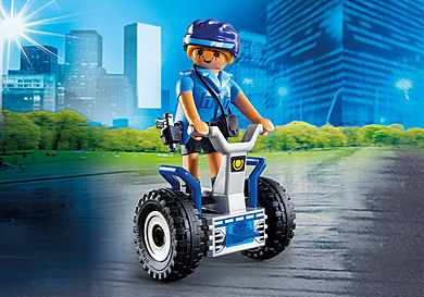 6877 Γυναίκα αστυνομικός με Balance Racer