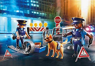6878 Polizei-Straßensperre