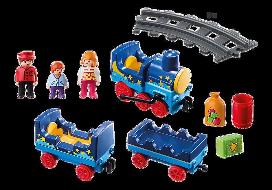 6880 Train étoilé avec passagers et rails detail image 3