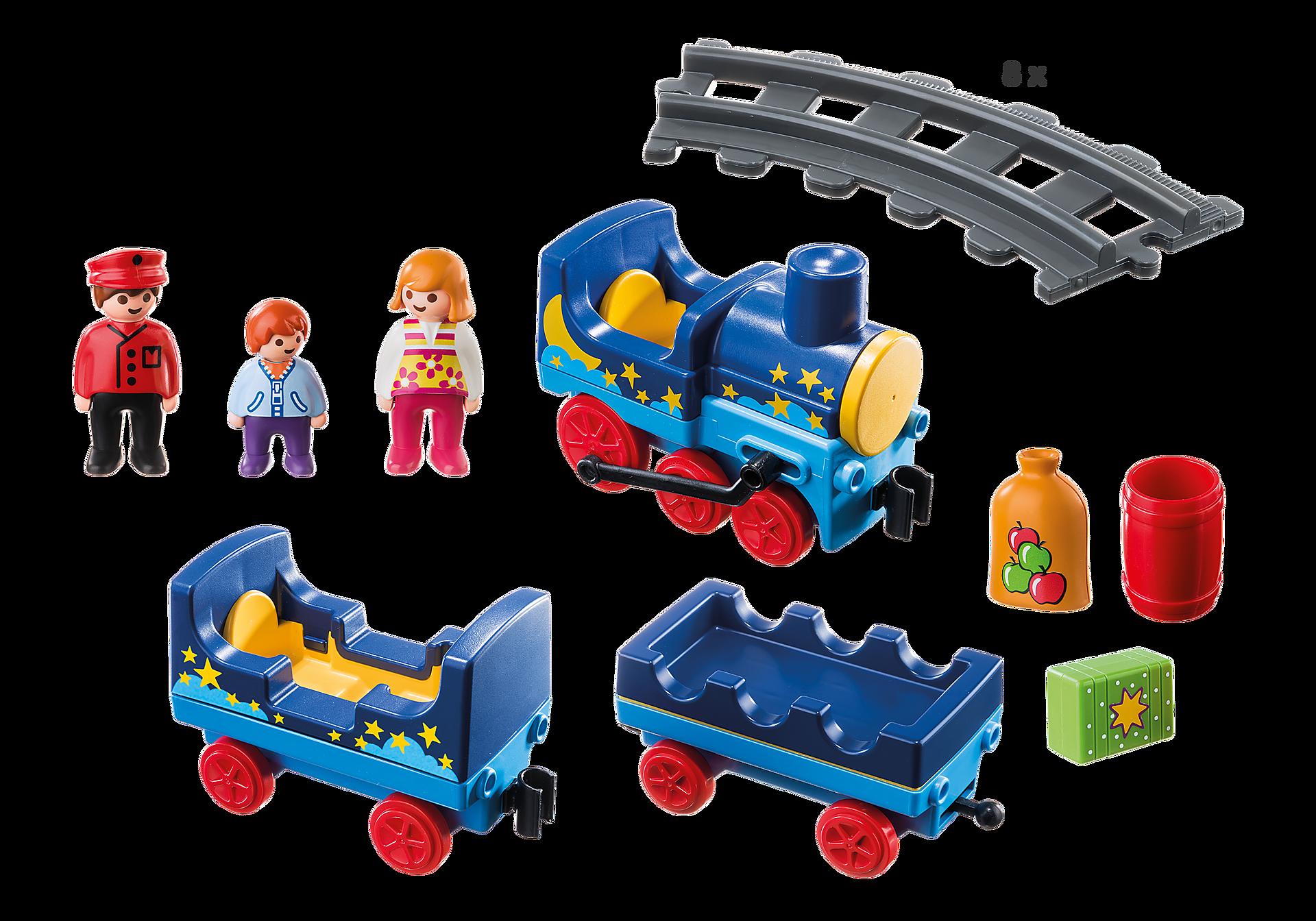6880 Train étoilé avec passagers et rails zoom image3