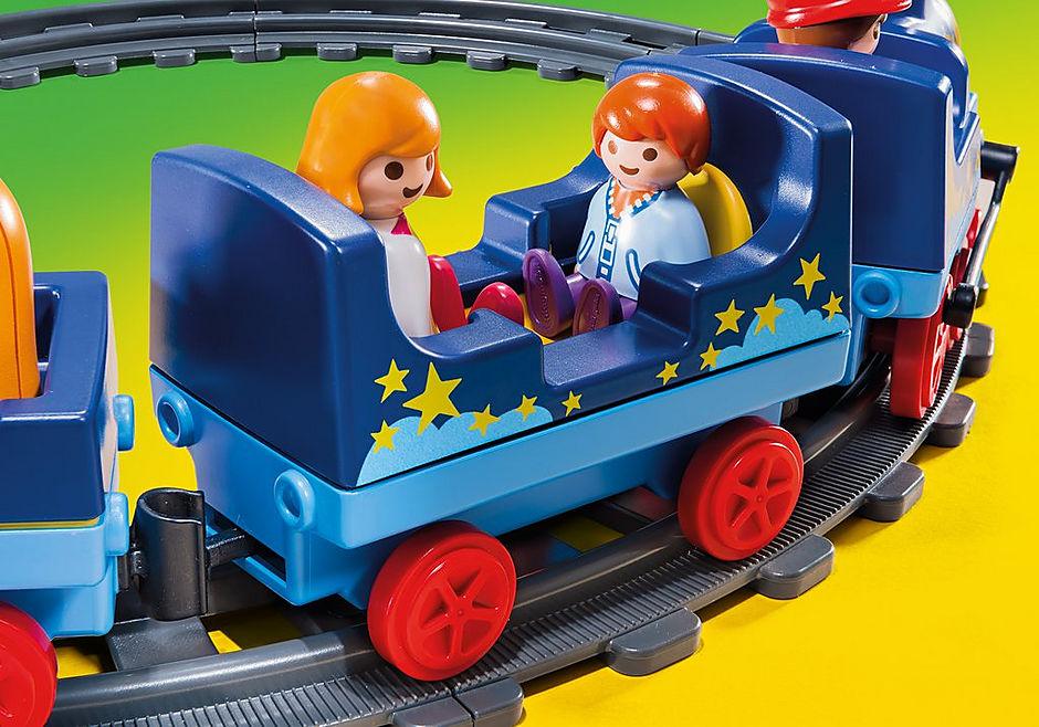 6880 Train étoilé avec passagers et rails detail image 4