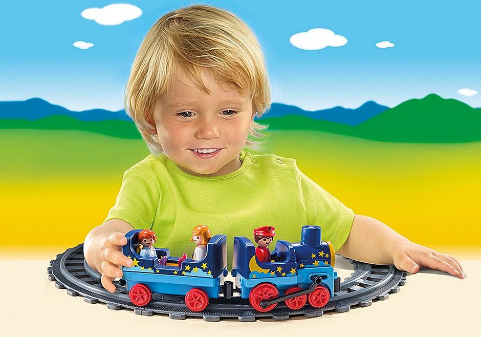 6880 Train étoilé avec passagers et rails detail image 5