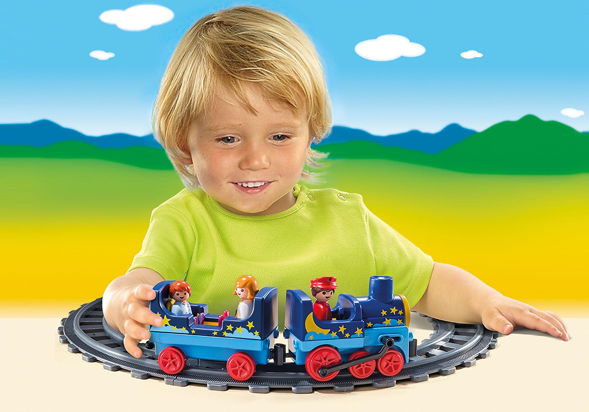 6880 Train étoilé avec passagers et rails zoom image5