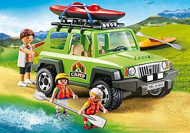 6889 Vehículo 4x4 con Canoa