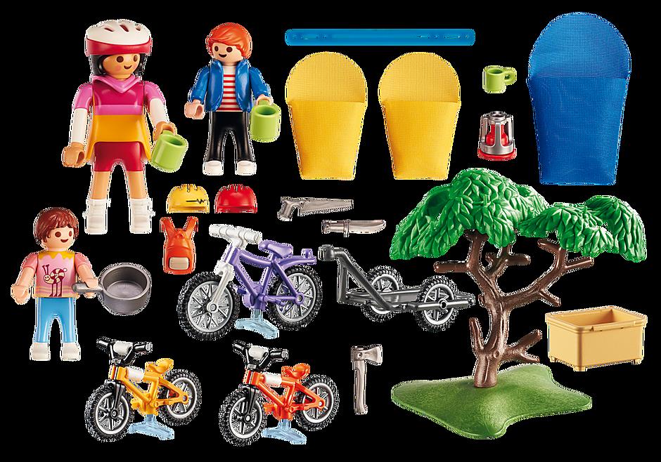 6890 Cyclistes avec vélos et remorque detail image 4