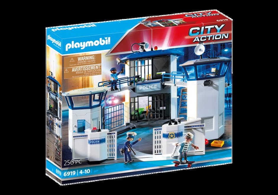 Commissariat de police avec prison 6919 playmobil france - Caserne de police playmobil ...