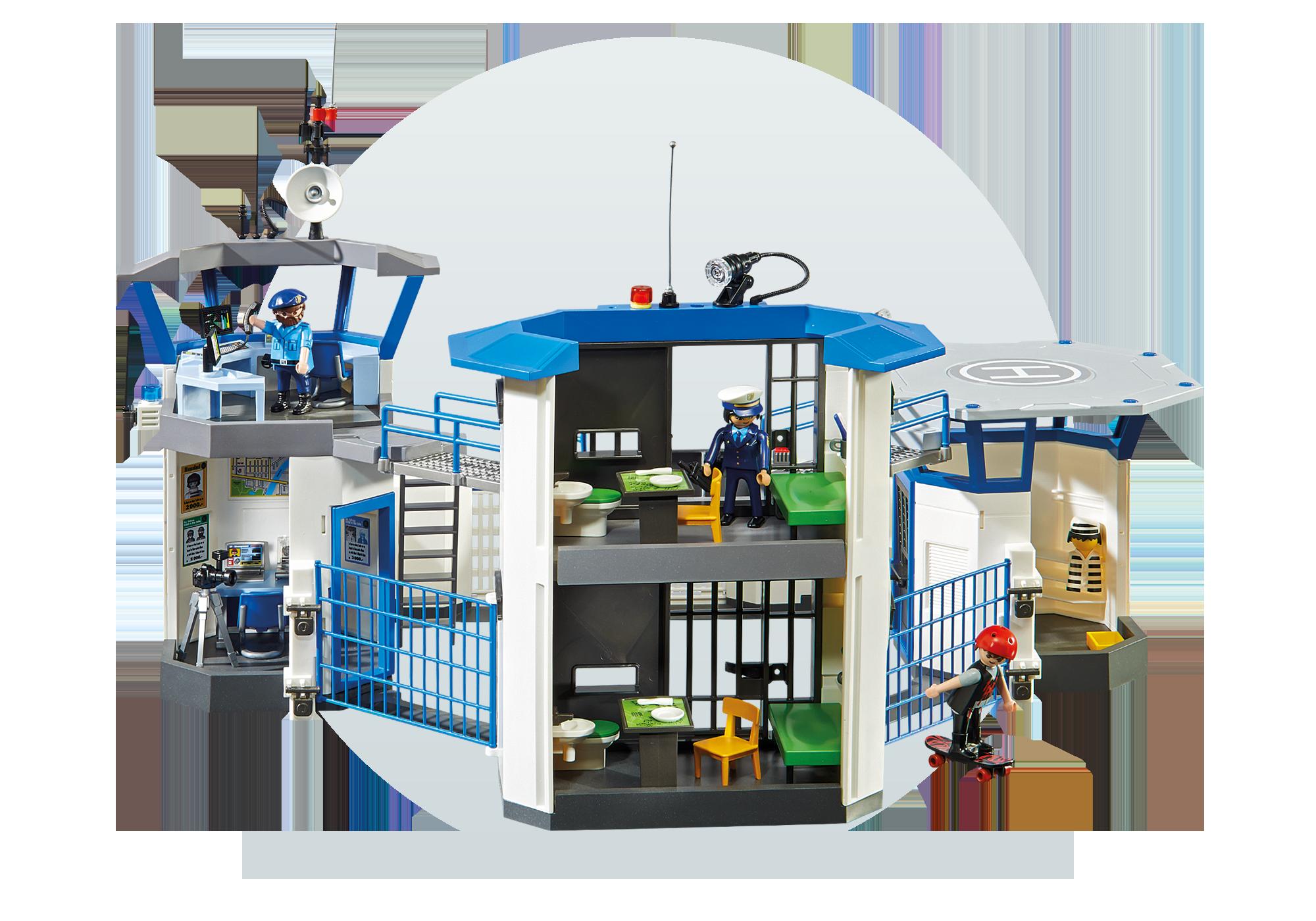 http://media.playmobil.com/i/playmobil/6919_product_extra6/Int. Polizei-Kommandozentrale mit Gefängnis