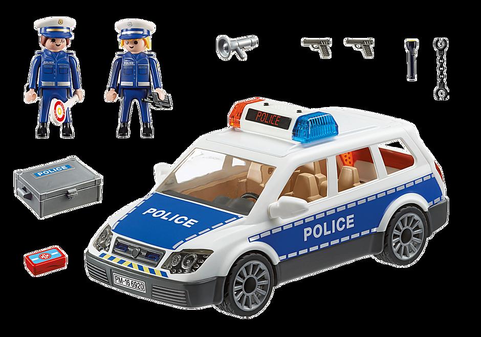 6920 Voiture de policiers avec gyrophare et sirène  detail image 3