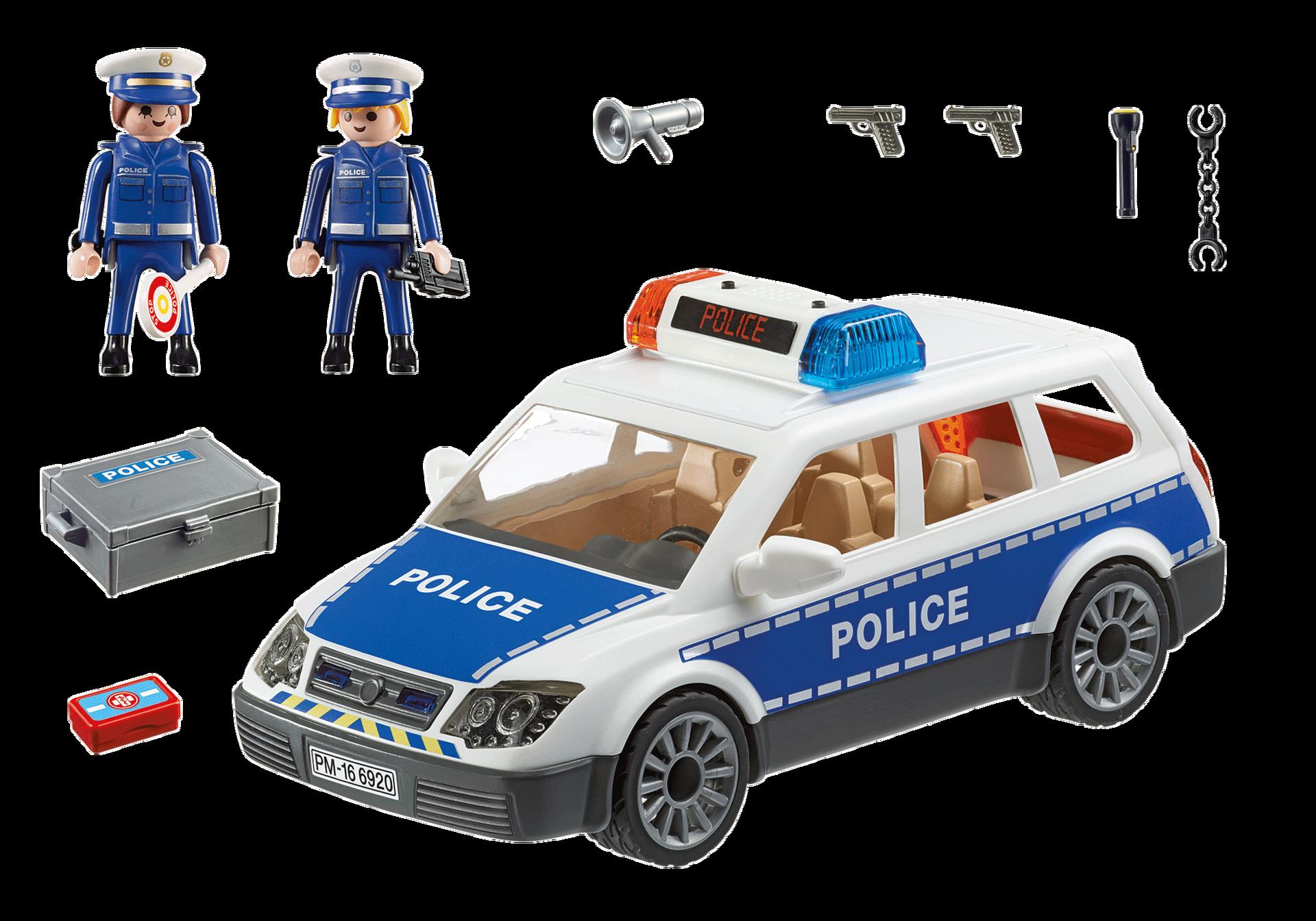 Voiture de policiers avec gyrophare et sirène - 6920 ...