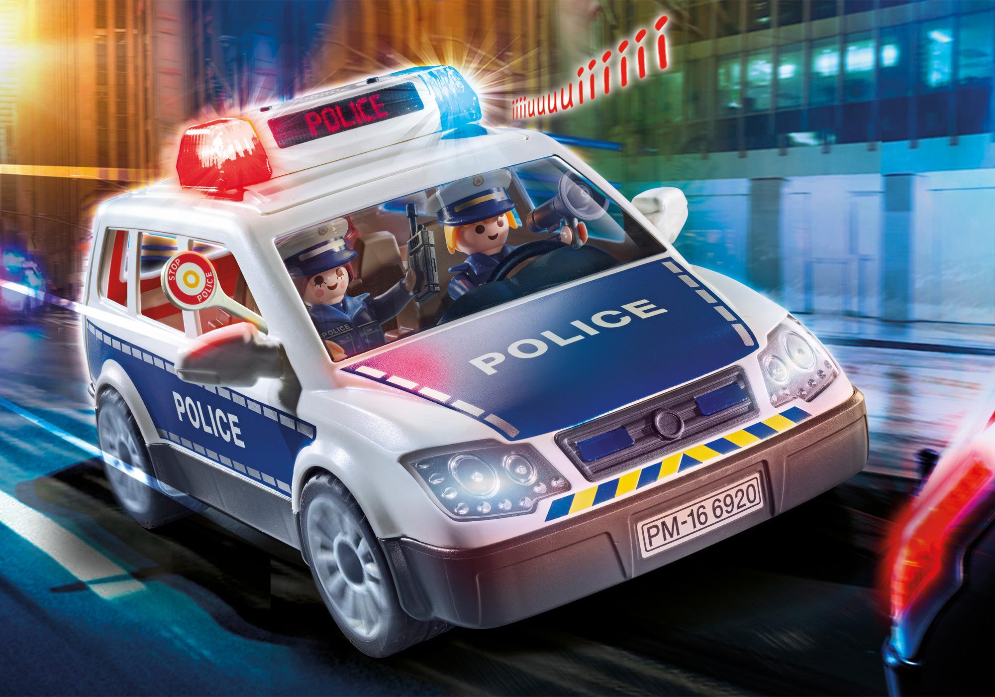 6920_product_detail/Voiture de policiers avec gyrophare et sirène