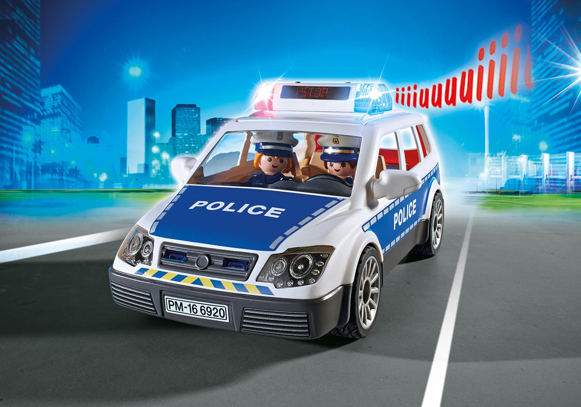 voiture de policiers avec gyrophare et sir ne 6920 playmobil france. Black Bedroom Furniture Sets. Home Design Ideas