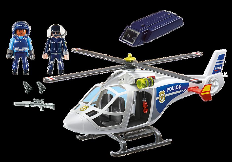 6921 Hélicoptère de police avec projecteur de recherche detail image 3