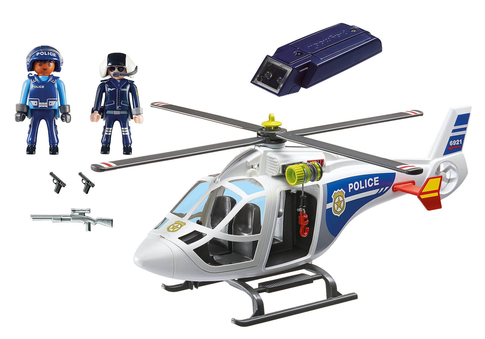 http://media.playmobil.com/i/playmobil/6921_product_box_back/Helicóptero de Policía con Luces LED