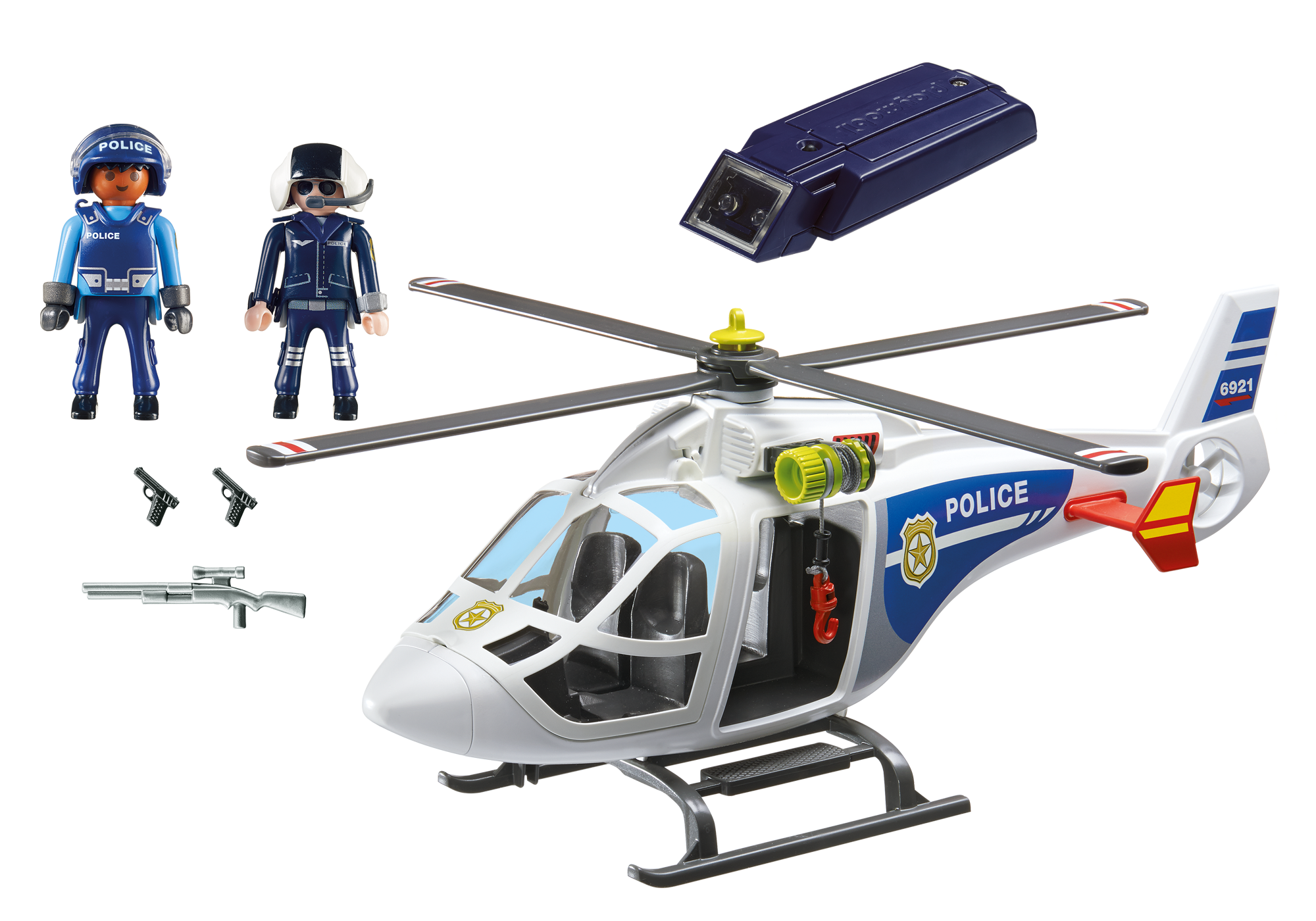 http://media.playmobil.com/i/playmobil/6921_product_box_back/Helikopter policyjny z reflektorem LED
