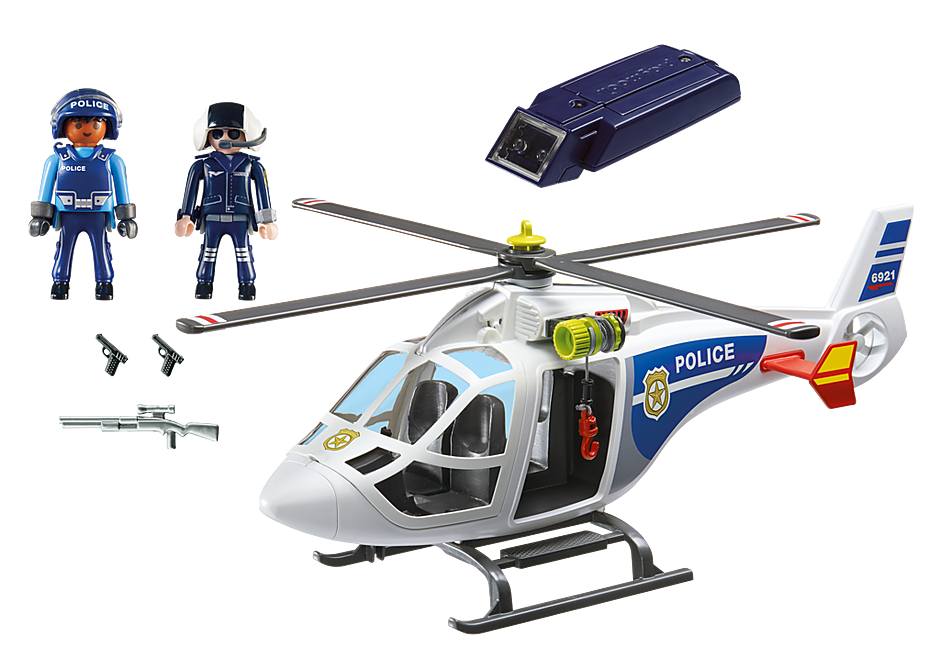 6921 Police Helicopter with LED Searchlight detail image 3