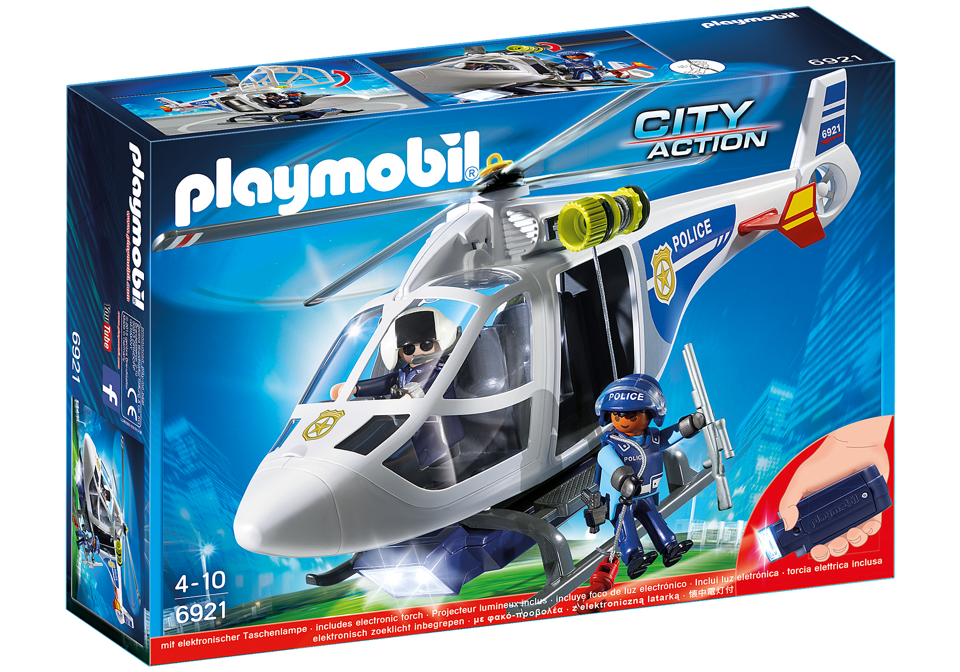 6921 Police Helicopter with LED Searchlight zoom image2