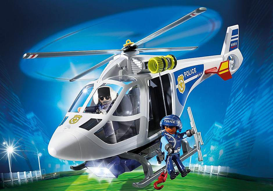 6921 Police Helicopter with LED Searchlight detail image 1