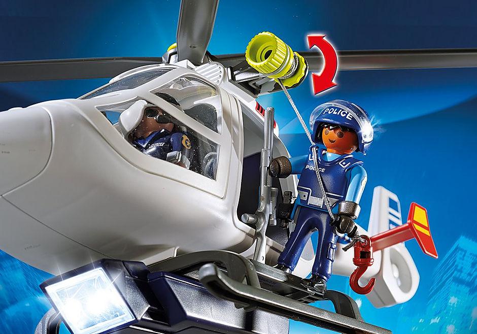 6921 Hélicoptère de police avec projecteur de recherche detail image 5