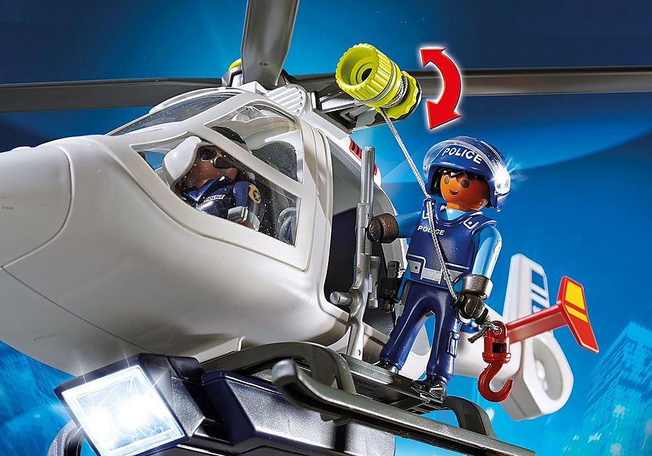6921 Police Helicopter with LED Searchlight detail image 5