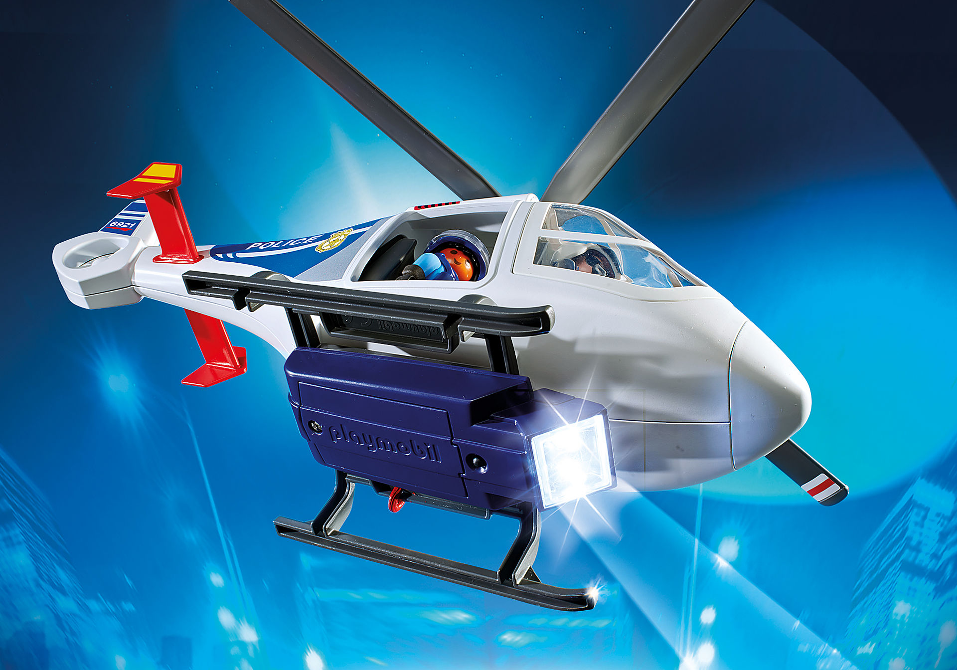 6921 Police Helicopter with LED Searchlight zoom image6