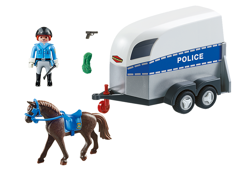 6922 Police with Horse and Trailer detail image 3