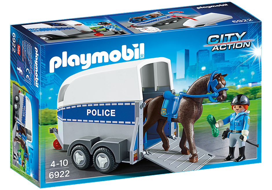 6922 Police with Horse and Trailer detail image 2