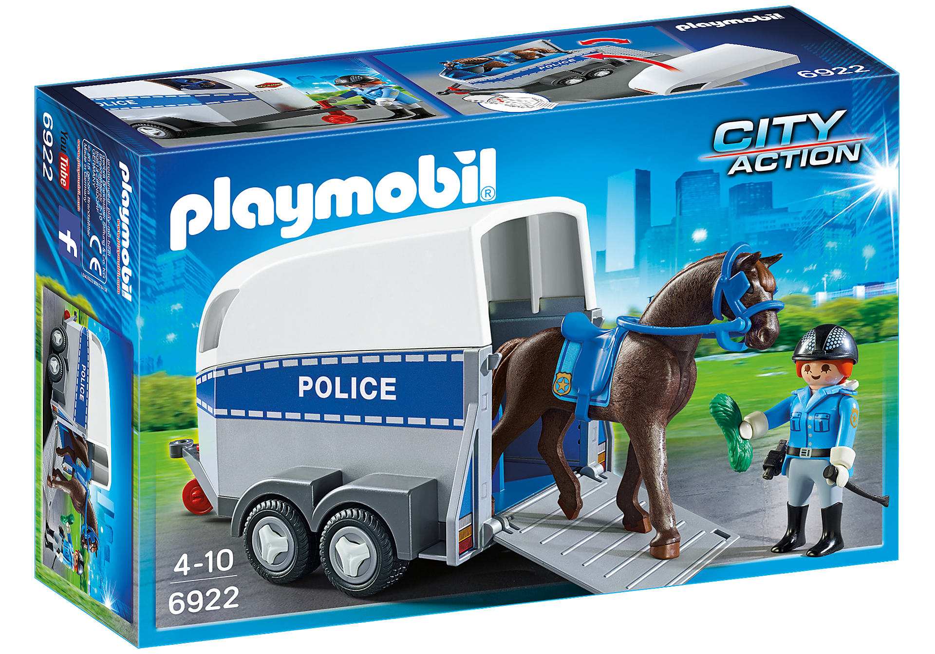6922 Police with Horse and Trailer zoom image2