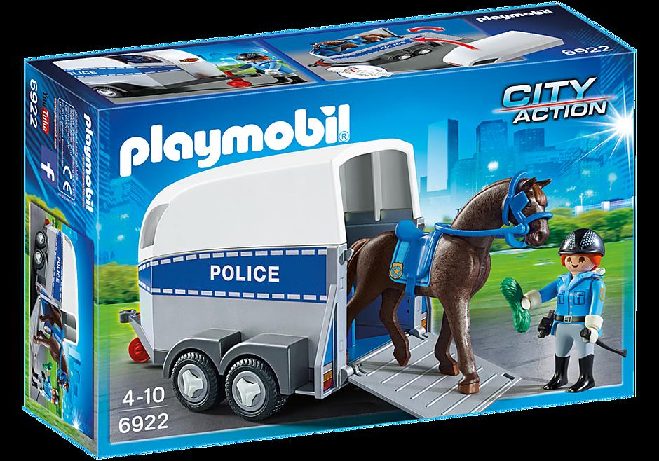 6922 Policière avec cheval et remorque detail image 2