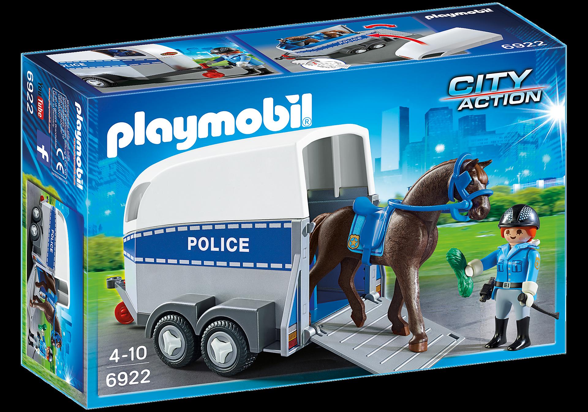 6922 Policière avec cheval et remorque zoom image2