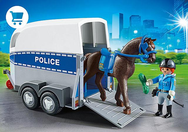 6922_product_detail/Policía con Caballo y Remolque